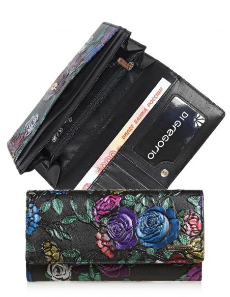 кgr17-0562 BLACK кошелёк женский