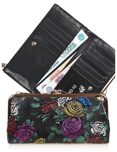 кgr17-0563 BLACK кошелёк женский